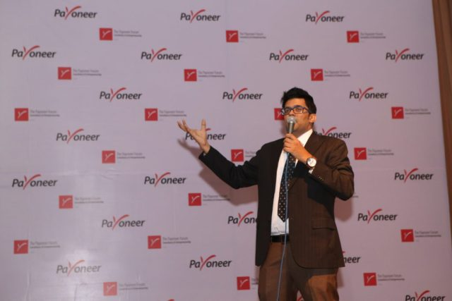 Jitendra vaswani at payoneer forum delhi India (2)