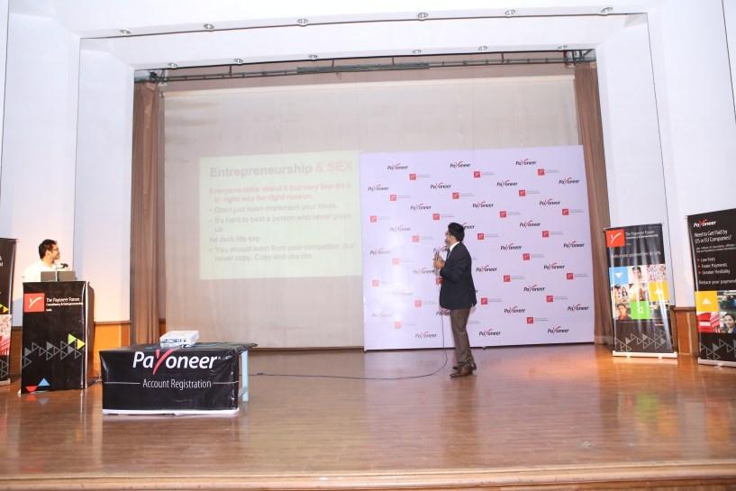 Jitendra vaswani at payoneer forum delhi India