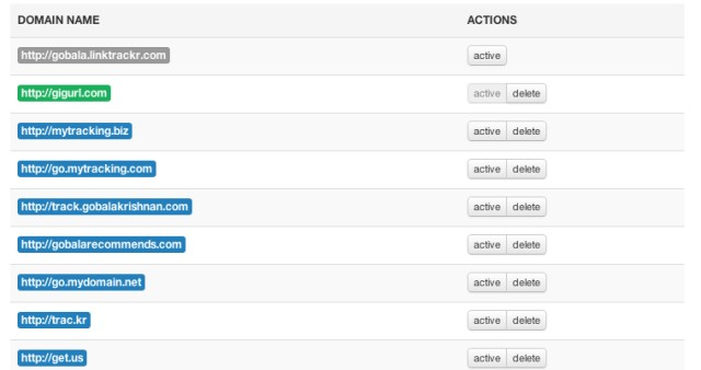 domains name customizing by Linktrackr
