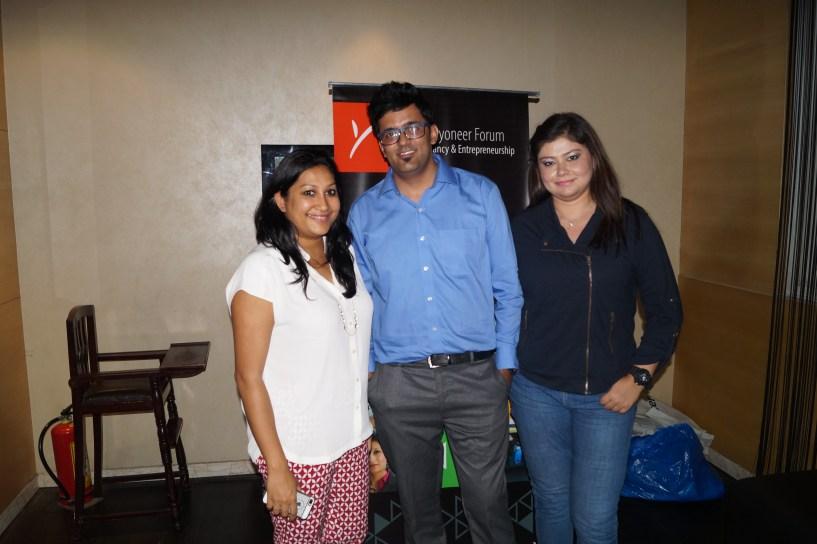 with payoneer team sanjukta and chitraparna