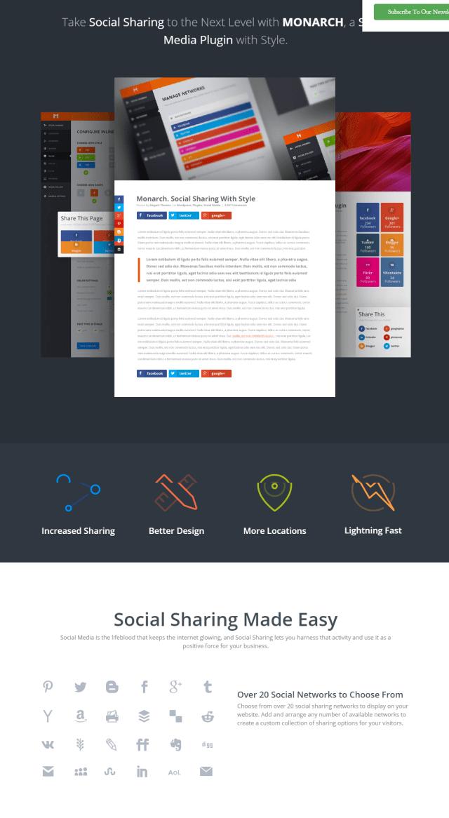 Elegant Themes Monarch Social Sharing Plugin For WordPress