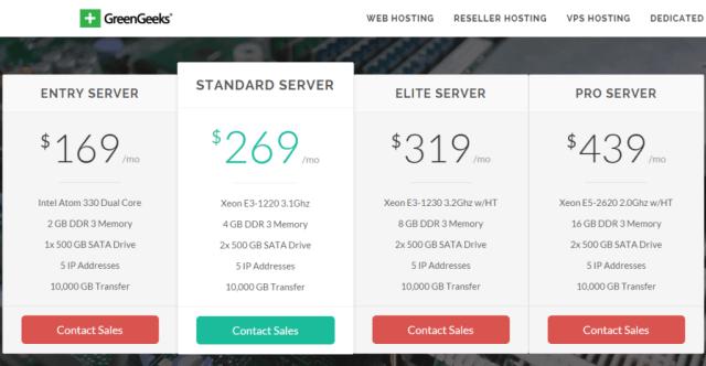 GreenGeeks Dedicated Servers