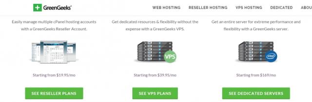 GreenGeeks Web Hosting VPS Hosting Reseller Hosting WordPress Hosting