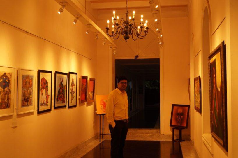 Hotel taj West End Bangalore beauty paintings (8)