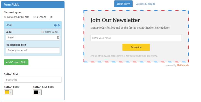 Mailmunch Optin Form Designing 2