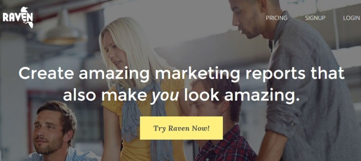 Raven tools review homepage