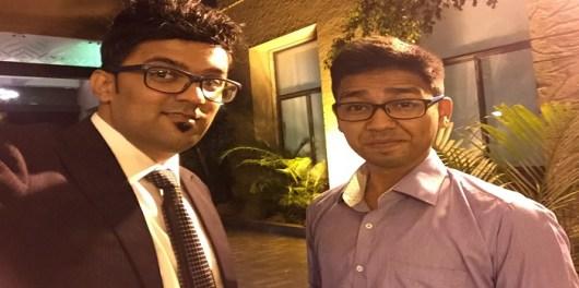 Sudipto Chakraborty From TekhSquare and me Jitendra Vaswani from bloggersideas