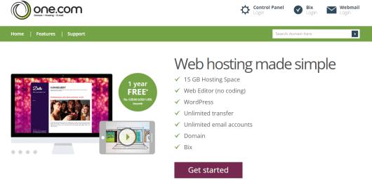 onedotcom hosting review