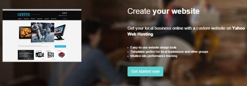 yahoo hosting review website builder tool