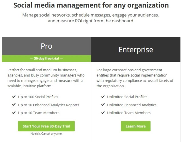 Hootsuite review features