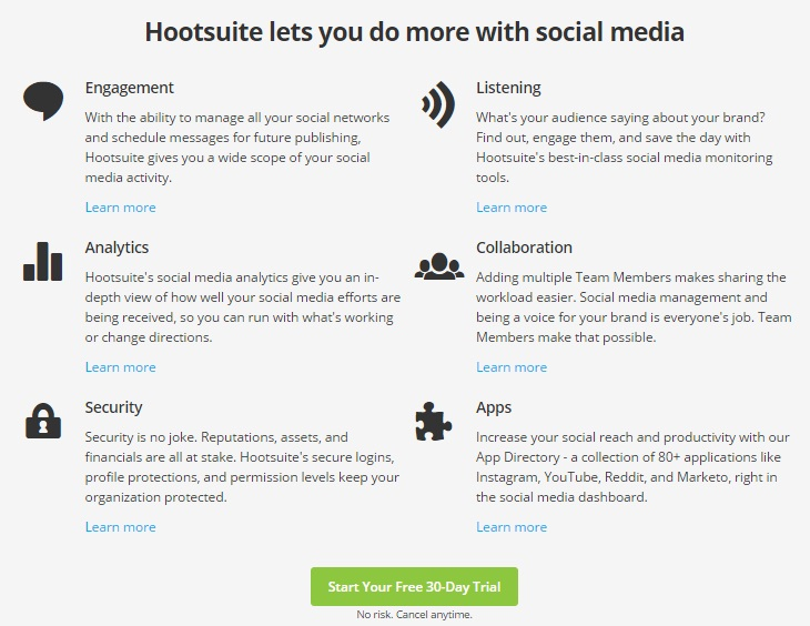 Hootsuite review important features