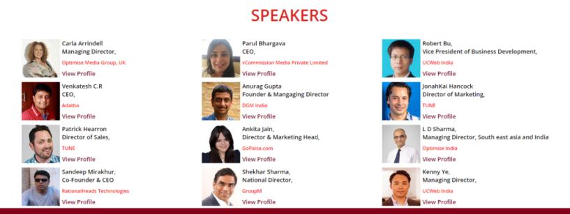 Indian Affiliate Summit Delhi 2015 SPEAKERS
