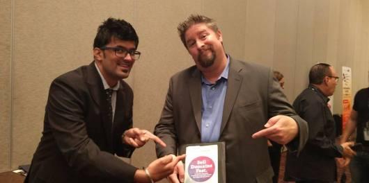 Jitendra Vaswani and Jothan Frakes promoting Aishwin's Book Sell Domains Fast