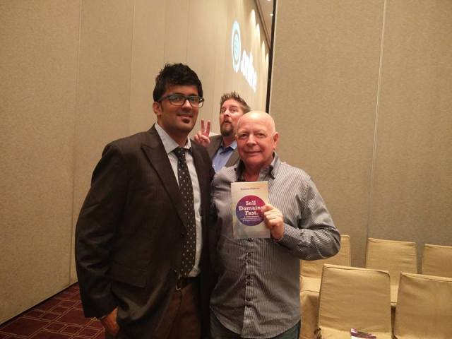 Jitendra Vaswani with Gregg Tripleg as Jothan photobombs for fun