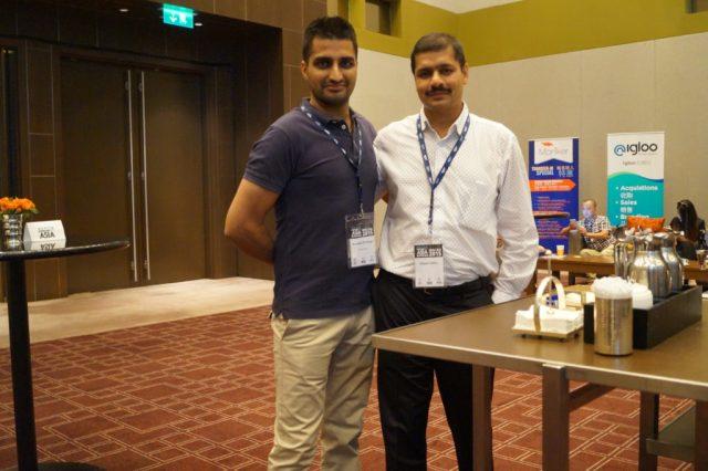 Manmeet Singh with Deepak Daftari Domainfest Macau