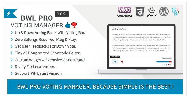 BWL Pro Voting Manager WordPress