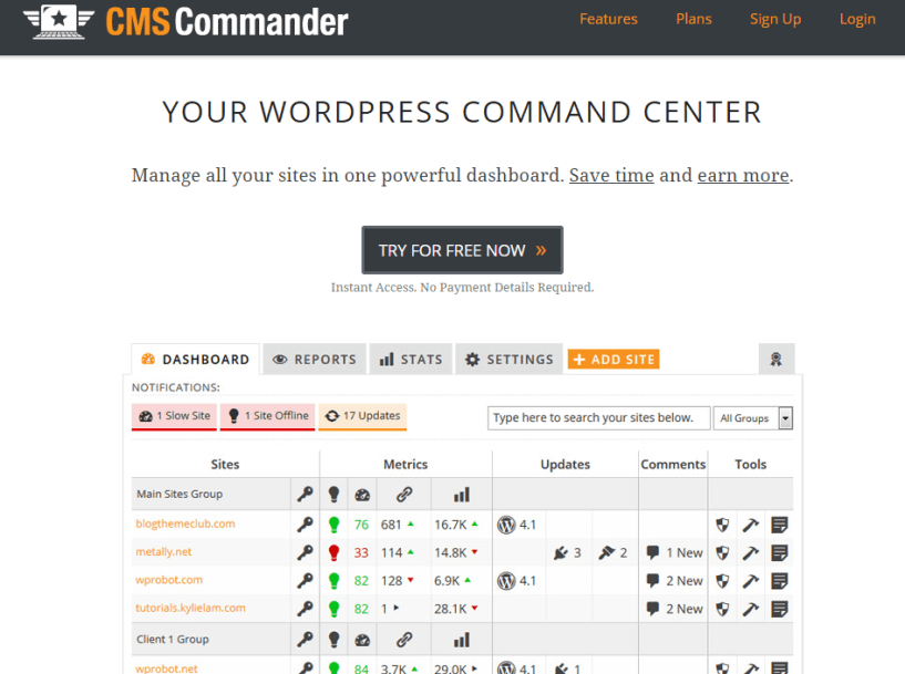 CMS Commander Manage Multiple WordPress Sites Faster