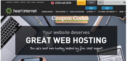 Heart Internet coupon codes promo codes discount codes