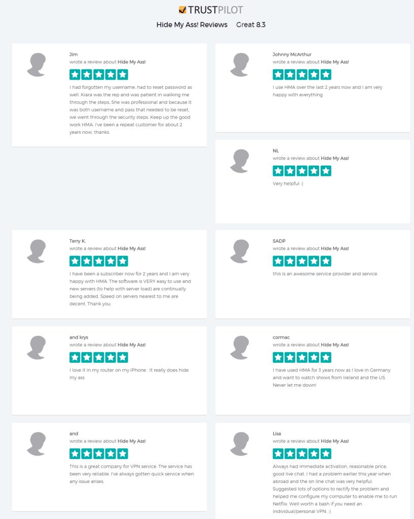 Hide My Ass reviews