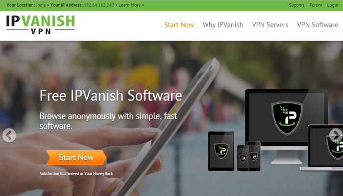 IPVanish - Top VPN service in USA