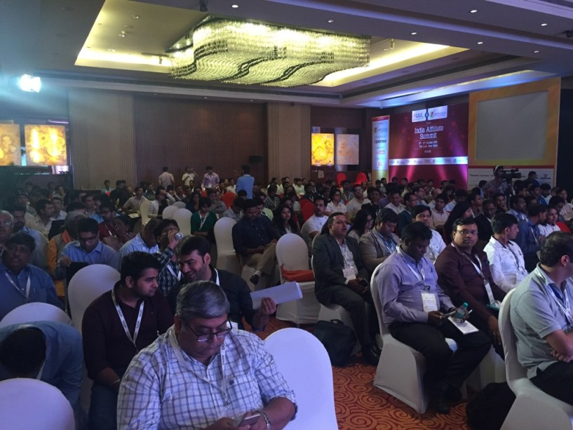 India Affiliate Summit 2015 Delhi crowded