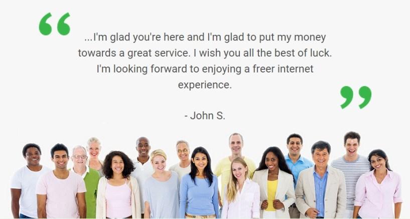Private Internet Access testimonial