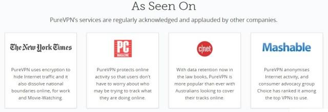 PureVPN review testimonial