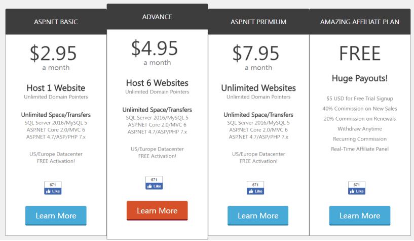 SmarterASP.net - Unlimited ASP.NET Web Hosting
