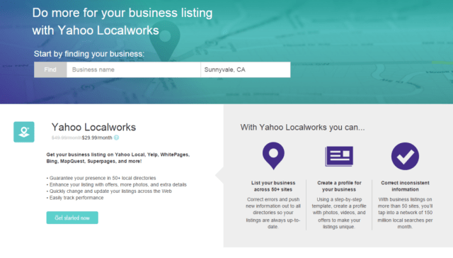 Yahoo Small Business Directory Local Listings