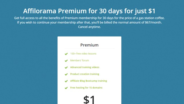 Affilorama premium membership