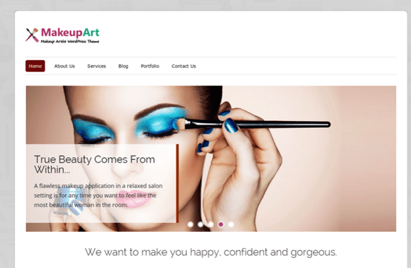 Makeup Artists WordPress Theme InkThemes