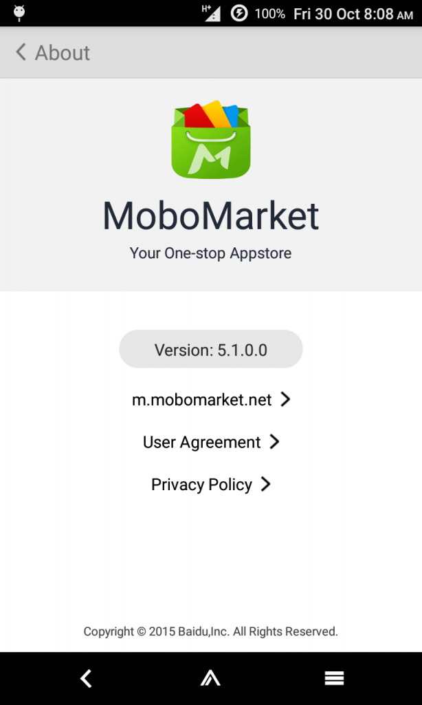 MoboMarket Version and Info Details