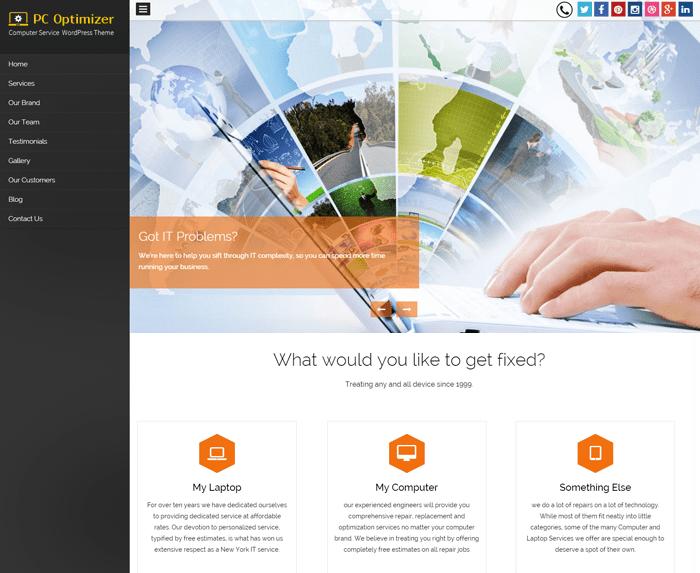 PC Optimizer WordPress Theme