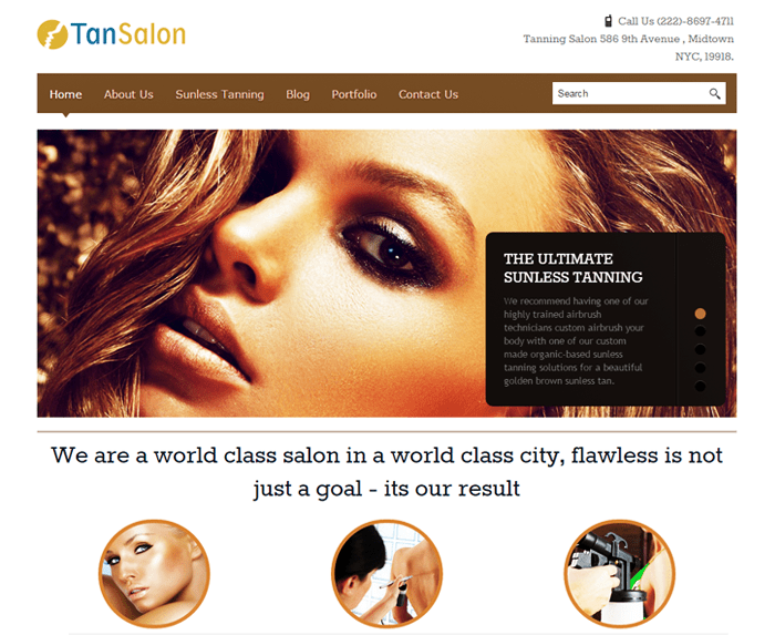 TanSalon WordPress Theme