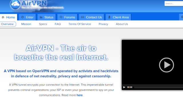 AirVPN The air to breathe the real Internet