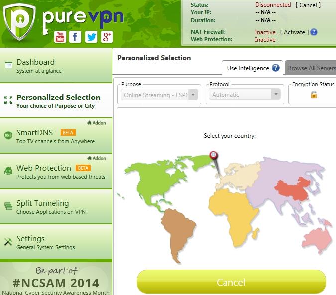 PureVPN-client