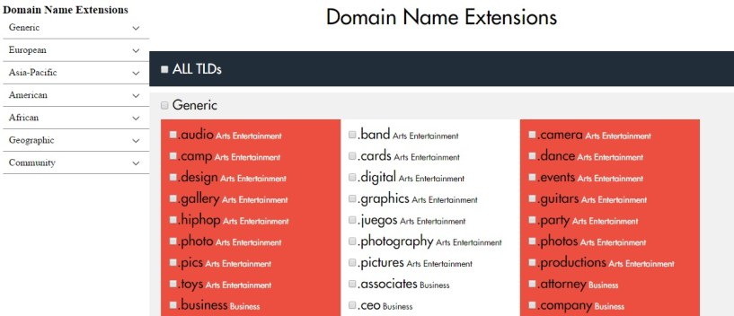 TLD extensions temok