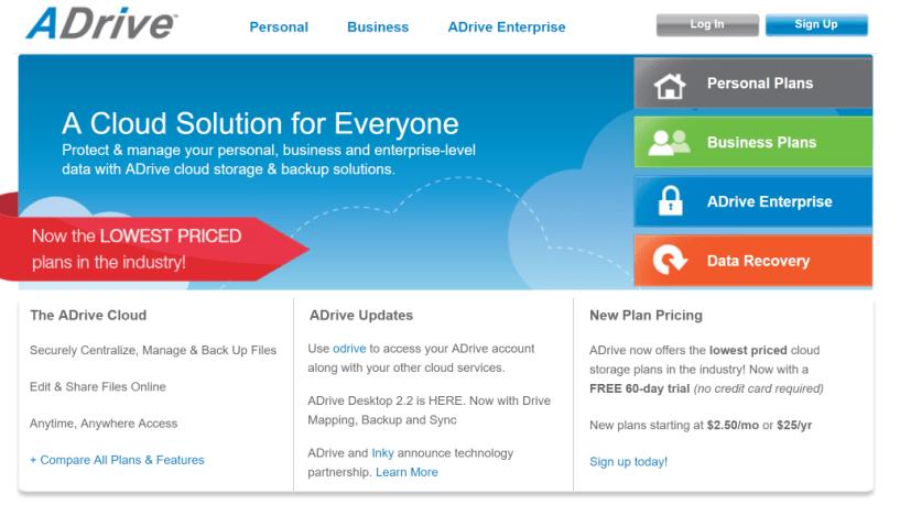 ADrive Online Storage Online Backup Cloud Storage