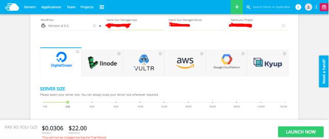 cloudways- install server