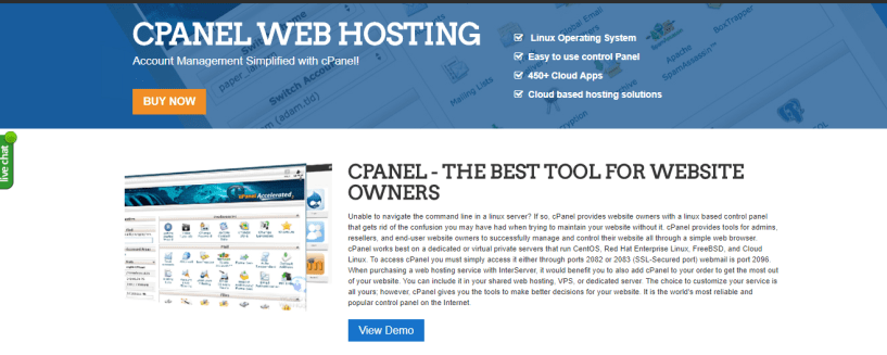 Interserver Cpanel Hosting