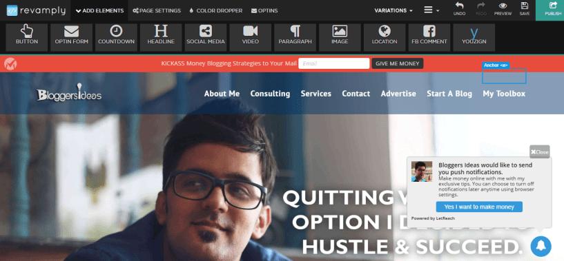 Revamply Website Editor Bloggerideas