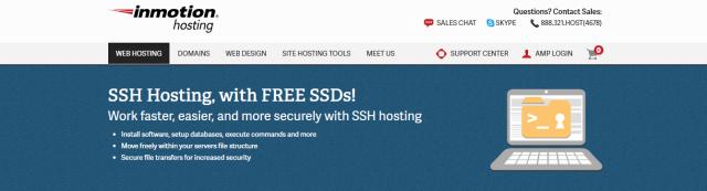 top ssh hosting provider inmotion hosting