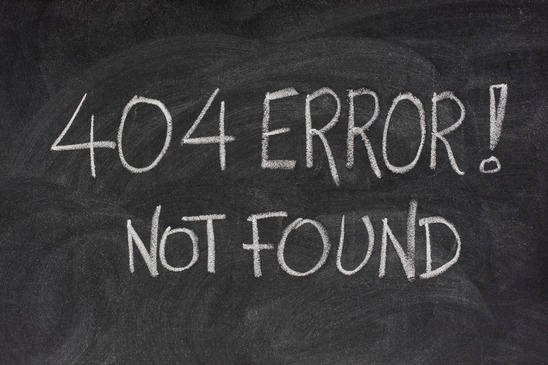 internet warning message, 404 error