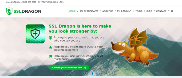 SSL Dragon provides the cheapest and best SSL Certificates