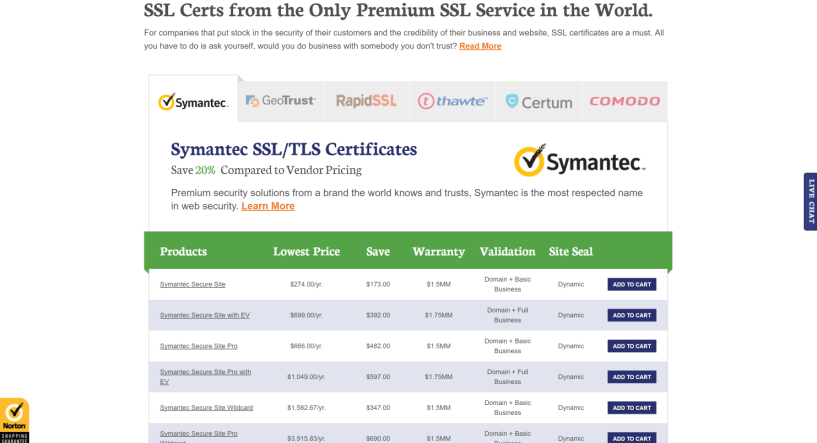 thesslstore SSL Certificates Provider Symantec VeriSign Thawte GeoTrust RapidSSL Comodo