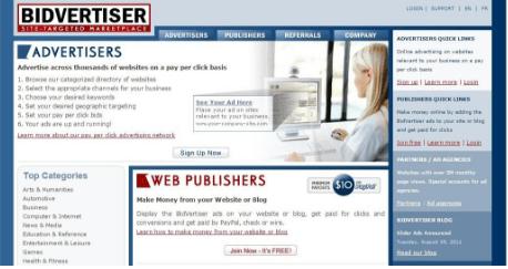 Bidvertiser - Popunder ad network