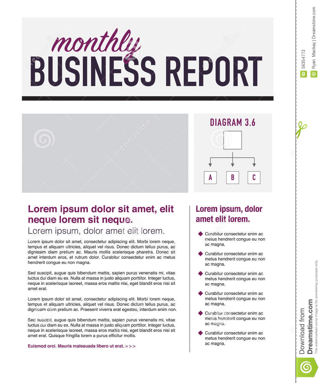 business report layout