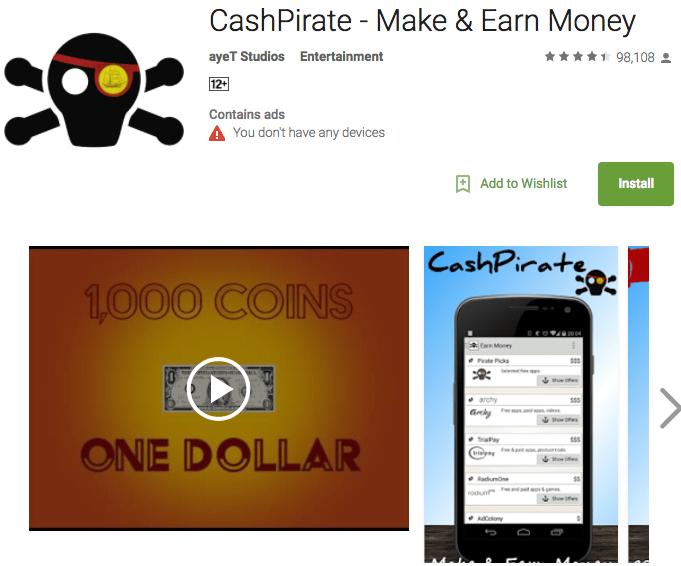 best money making apps: cashpirate