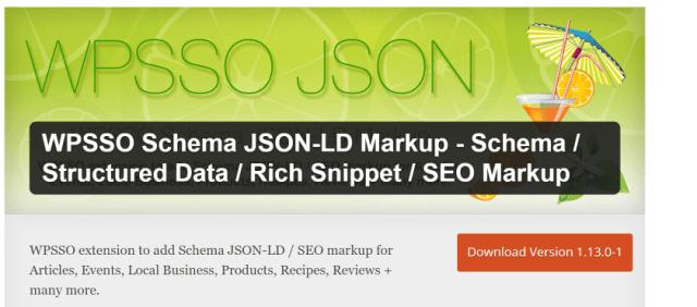 WPSSO Schema JSON-LD Markup