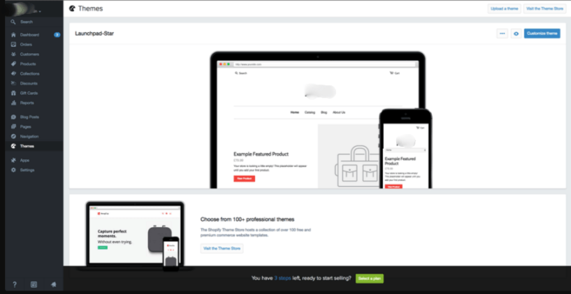 launch shopify